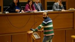 Ο Σωτήρης Πουλικογιάννης συνεχίζει την κατάθεση του σαν μάρτυρας στη δίκη της Χρυσής Αυγής. ΑΠΕ-ΜΠΕ/Παντελής Σαίτας