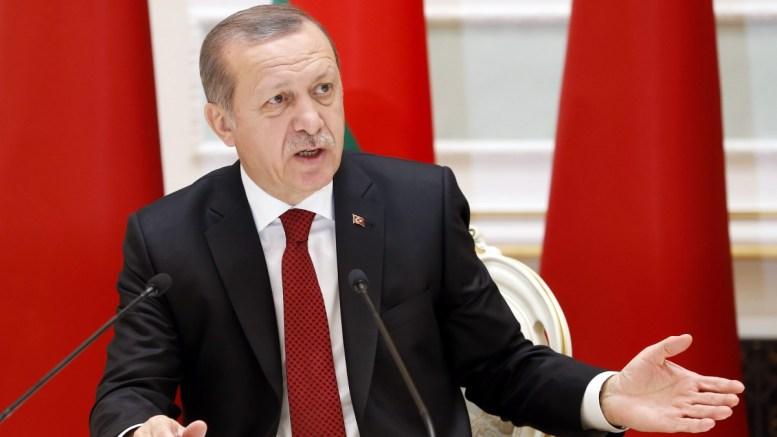 Turkish President Recep Tayyip Erdogan in the Palace of Independence in Minsk, Belarus. EPA, TATYANA ZENKOVICH