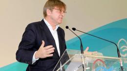 O επικεφαλής των Φιλελευθέρων στο Ευρωπαϊκό Κοινοβούλιο, Γκυ Φερχόφσταντ. Φωτογραφία ΚΥΠΕ