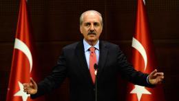 Ο αντιπρόεδρος της τουρκικής κυβέρνησης Νουμάν Κουρτουλμούς. Φωτογραφία EPA