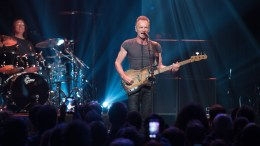 A handout image provided by the Bataclan managment shows British musician Sting (C) during his concert at the newly reopened Bataclan concert venue in Paris, France, 12 November 2016. The venue reopened one year after the deadly attacks of 13 November 2015, with a concert by British singer-songwriter Sting, attended by victims and family members of the victims of Paris attacks.  EPA/DAVID WOLFF PATRICK / BATACLAN / HANDOUT  HANDOUT EDITORIAL USE ONLY/NO SALES