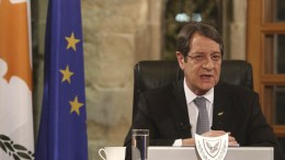 FILE PHOTO. Cypriot President Nicos Anastasiades during a televised press conference at the Presidential Palace in Nicosia, Cyprus. EPA, YIANNIS KOURTOGLOU / POOL