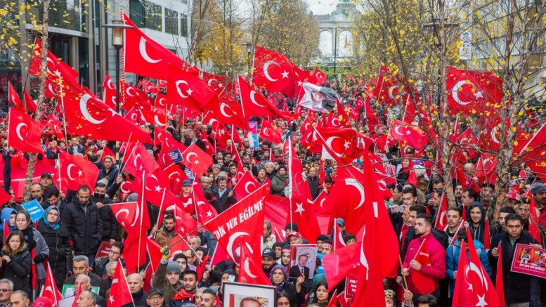 FILE PHOTO. Supporters of Turkish President Recep Tayyip Erdogan in Belgium. EPA, STEPHANIE LECOCQ