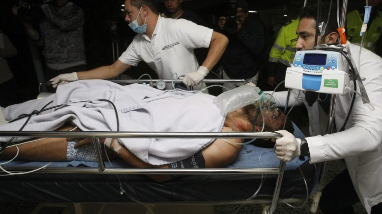 Medical staff from the San Juan de Dios hospital transfer 27-year-old Brazilian soccer player Alan Ruschel as he arrives to La Ceja in Colombia on 29 November 2016, after surviving a plane crash. Ruschel is said to be the first survivor after a plane reportedly carrying 81 people, including the players of the Brazilian soccer club Chapecoense, crashed in a mountainous area outside Medellin as it was approaching the Jose Maria Cordoba airport. The cause of the incident is yet unknown. The Chapecoense were scheduled to play in the Copa Sudamericana final against the Medellin's Atletico Nacional on 30 November. EPA/LUIS EDUARDO NORIEGA A.