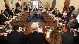 ΦΩΤΟΓΡΑΦΙΑ ΑΡΧΕΙΟΥ. Σύνοδος του Εθνικού Συμβουλίου για τις εξελίξεις στο Κυπριακό. Φωτογραφία ΚΥΠΕ.