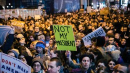 People participate in a protest against the election of Donald Trump as President of the United States. EPA/ALBA VIGARAY