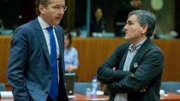 File PHOTO: President of Eurogroup, Dutch Finance Minister, Jeroen Dijsselbloem (L) and Greek Finance Minister Euclid Tsakalotos (R) during a European finance ministers meeting in Brussels, Belgium, 06 December 2016. EPA, STEPHANIE LECOCQ
