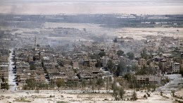 A file picture dated 01 April 2016 shows a general view for the city of Tadmur adjecent to the ancient city of Palmyra in the central city of Homs, Syria. On 10 December 2016 Islamic State (IS) fighters re-entered Palmyra after the Syrian government forces gained control over the Unesco World Heritage site on March 2016. EPA, YOUSSEF BADAWI