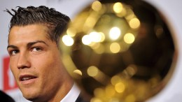 Manchester United Portuguese winger Cristiano Ronaldo holds a press conference after being awarded with 'Ballon d'Or' (Golden ball), rewarding the best European footballer of the year, at the Channel One TV studio TF1 in Boulogne Billancourt, Paris suburb, France, 07 December 2008.  EPA/YOAN VALAT