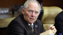 FILE PHOTO. German Federal Minister for Finance Wolfgang Schauble. EPA, DAN HIMBRECHTS