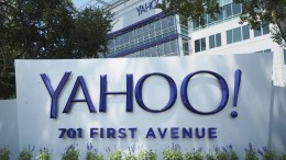 A file photograph showing Yahoo! Corporate Headquarters and campus displaying their updated logo in Sunnyvale, California, USA. EPA/JOHN G. MABANGLO