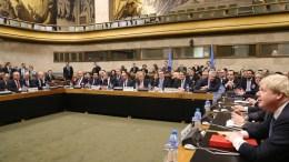 File PHOTO: Στιγμιότυπο από την έναρξη της Διάσκεψης για το Κυπριακό στη Γενεύη της Ελβετίας, στην παρουσία του Γενικού Γραμματέα του ΟΗΕ Αντόνιο Γκουτέρες. ΚΥΠΕ, ΚΑΤΙΑ ΧΡΙΣΤΟΔΟΥΛΟΥ