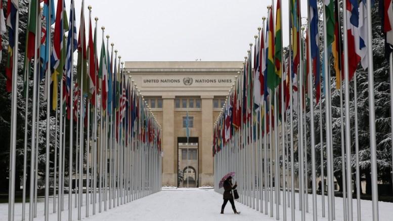 Το Παλάτι των Εθνών, στη Γενεύη όπου διεξήχθησαν οι διαπραγματεύσεις για το Κυπριακό, Τρίτη 10 Ιανουαρίου 2017. ΚΥΠΕ, ΚΑΤΙΑ ΧΡΙΣΤΟΔΟΥΛΟΥ