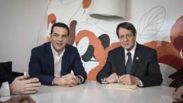 Ο Πρωθυπουργός, Αλέξης Τσίπρας (Α), και ο Πρόεδρος της Κυπριακής Δημοκρατίας, Νίκος Αναστασιάδης (Δ).   ΑΠΕ-ΜΠΕ, ΓΡΑΦΕΙΟ ΤΥΠΟΥ ΠΡΩΘΥΠΟΥΡΓΟΥ, ANDREA BONETTI