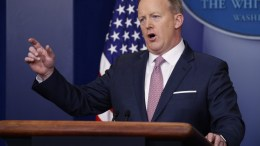 White House Press Secretary Sean Spicer responds to a question from the news media during the press briefing in the Brady Press Briefing Room in the White House in Washington, DC, USA. EPA, SHAWN THEW