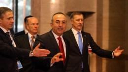 Ο Τούρκος Υπουργός Εξωτερικών, Μεβλούτ Τσαβούσογλου στη Διάσκεψη για το Κυπριακό στη Γενεύη της Ελβετίας, Πέμπτη 12 Ιανουαρίου 2017. ΚΥΠΕ, ΚΑΤΙΑ ΧΡΙΣΤΟΔΟΥΛΟΥ