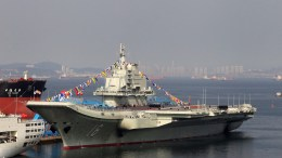 A file picture shows China's first aircraft carrier. EPA/JOHN LEE CHINA OUT