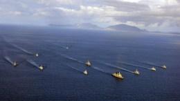 File Photo: Φωτογραφία που δόθηκε στη δημοσιότητα από το ΓΕΝ και εικονίζει πολεμικά πλοία να παίρνουν μέρος στην άσκηση ΑΡΙΑΔΝΗ. ΑΠΕ-ΜΠΕ, Γραφείο Τύπου ΓΕΝ, STR