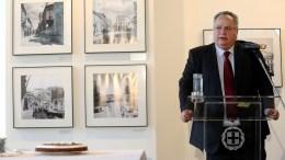 Ο υπουργός Εξωτερικών Νίκος Κοτζιάς στο Υπουργείου Εξωτερικών. ΑΠΕ-ΜΠΕ, ΣΥΜΕΛΑ ΠΑΝΤΖΑΡΤΖΗ