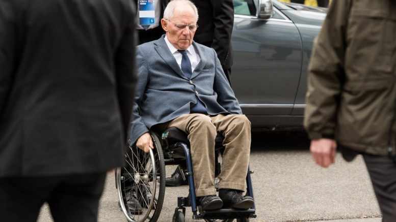 German Finance Minister Wolfgang Schaeuble arrives to a meeting in Munich, Germany. EPA, LUKAS BARTH
