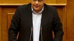 Ο αναπληρωτής υπουργός Περιβάλλοντος και Ενέργειας Σωκράτης Φάμελος.  ΑΠΕ-ΜΠΕ, Παντελής Σαίτας