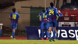 Οι παίκτες της Κέρκυρας πανηγυρίζουν κατά τη διάρκεια του αγώνα ποδοσφαίρου Κέρκυρα – Παναθηναϊκός για την 17η αγωνιστική του πρωταθλήματος της Σούπερ Λίγκα στο γήπεδο Ε.Α.Κ. Κέρκυρας, Κυριακή 22 Ιανουαρίου 2017. Τελικό σκορ Κέρκυρα - Παναθηναϊκός 1-1. ΑΠΕ-ΜΠΕ/ΑΠΕ-ΜΠΕ/ΚΑΤΑΠΟΔΗΣ ΣΤΑΜΑΤΗΣ