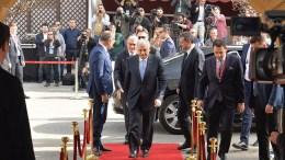 Ο Τούρκος Πρωθυπουργός Μπιναλί Γιλντιρίμ στην κατεχόμενη Λευκωσία. Φωτογραφία ΚΥΠΕ, O.ASIK