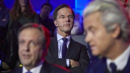 Dutch Prime Minister Mark Rutte (VVD) during the last TV debate of the NOS in The Hague, The Netherlands, 14 March 2017. EPA, PHIL NIJHUIS