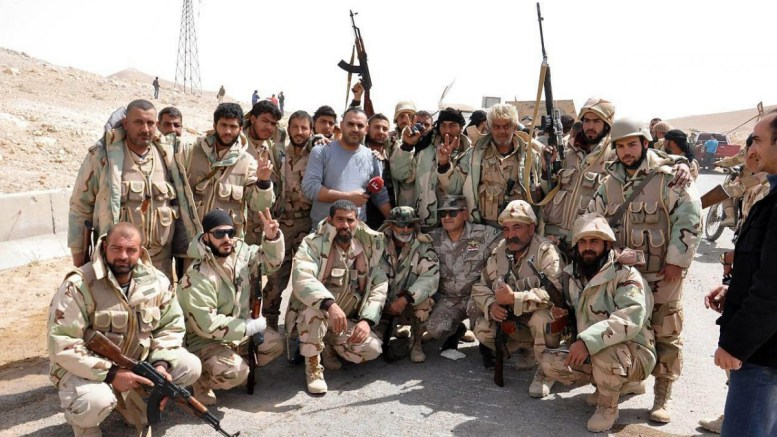 A handout picture shows members of the Syrian army. FILE PHOTO. EPA, SANA HANDOUT, EDITORIAL USE ONLY