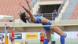 Η Τατιάνα Γκούσιν αγωνίζεται στο άλμα εις ύψος στους Ευρωπαϊκούς αγώνες στίβου Μπρούνο Ζάουλι που διεξάγονται στο παγκρήτιο στάδιο στο Ηράκλειο, Κυριακή 21 Ιουνίου 2015. ΑΠΕ-ΜΠΕ/ΑΠΕ-ΜΠΕ/ΣΤΕΦΑΝΟΣ ΡΑΠΑΝΗΣ