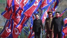 North Korean leader Kim Jong-un (C). Pyongyang, North Korea. EPA, HOW HWEE YOUNG