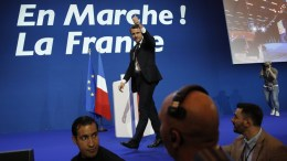 French presidential election candidate for the 'En Marche!' (Onwards!) political movement, Emmanuel Macron. EPA, YOAN VALAT