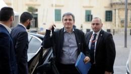 Ο υπουργός Οικονομικών Ευκλείδης Τσακαλώτος. ΑΠΕ-ΜΠΕ, European Union, STR