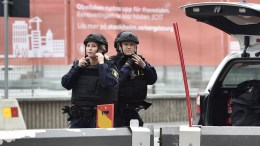 FILE PHOTO. Swedish police officers on  guard. EPA, NOELLA JOHANSSON SWEDEN OUT