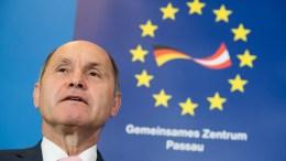 Austrian Interior Minister Wolfgang Sobotka at a press conference. EPA/SEBASTIAN WIDMANN