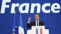 French presidential election candidate Emmanuel Macron. EPA/YOAN VALAT