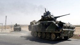 Τουρκικά στρατεύματα στην Συρία. Φωτογραφία Αρχείου.  EPA/SEDAT SUNA
