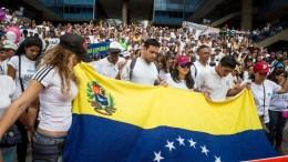 People gather to demonstrate in Caracas, Venezuela against Maduro. FILE PHOTO. EPA/MIGUEL GUTIERREZ