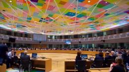 Η αίθουσα όπου διεξάγονται οι εργασίες του Eurogroup. Δεξιά ο Γερμανός πρώην υπουργός Οικονομικών Σόιμπλε. Copyright: European Union