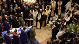 Ο Πρόεδρος της Κύπρου Νίκος Αναστασιάδης εκφωνεί τον επικήδειο λόγο στην εξόδιο ακολουθία του πρώην πρωθυπουργού Κωνσταντίνου Μητσοτάκη, με τιμές εν ενεργεία πρωθυπουργού στην Ιερά Μητρόπολη Αθηνών, την Τετάρτη 31 Μαΐου 2017. ΑΠΕ-ΜΠΕ, ΑΛΕΞΑΝΔΡΟΣ ΒΛΑΧΟΣ