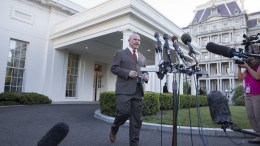 FILE PHOTO. National Security Advisor Lieutenant General H.R. McMaster walks out of the West Wing of the White House to deliver a statement to members of the news media, in Washington, DC, USA. EPA, MICHAEL REYNOLDS