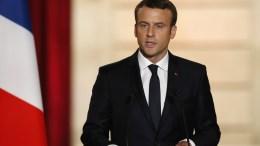 FILE PHOTO. New French President Emmanuel Macron delivers a speech. EPA/FRANCOIS MORI / POOL MAXPPP OUT