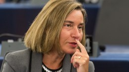 Federica Mogherini, High Representative of the EU for Foreign Affairs and Security Policy. FILE PHOTO. EPA/PATRICK SEEGER