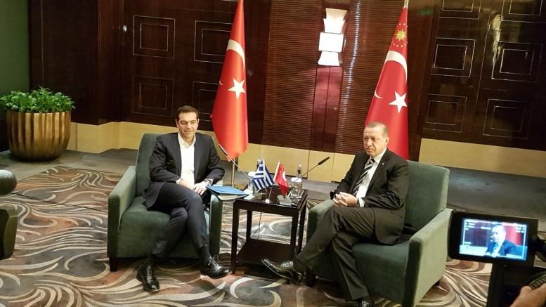 ΦΩΤΟΓΡΑΦΙΑ ΑΡΧΕΙΟΥ. Ο πρωθυπουργός Αλέξης Τσίπρας (Α) με τον πρόεδρο της Τουρκίας Ρετζέπ Ταγίπ Ερντογάν (Δ),ο.ΑΠΕ-ΜΠΕ/STR