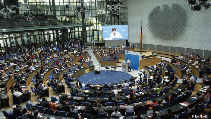 Στιγμιότυπο από το Global Media Forum, το ετήσιο ραντεβού των ΜΜΕ που φιλοξενεί η Deutsche Welle. Φωτογραφία DW