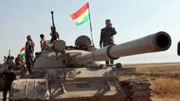 FILE PHOTO. Kurdish Peshmerga soldiers take up positions, south of Kirkuk, northern Iraq. FILE PHOTO. EPA/STR