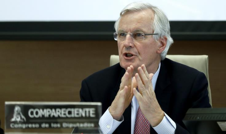 Ο επικεφαλής των διαπραγματευτών της Κομισιόν, Μισέλ Μπαρνιέ. Φωτογραφία: ΚΥΠΕ.