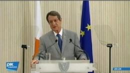 Ο Πρόεδρος της Κυπριακής Δημοκρατίας Νίκος Αναστασιάδης. Φωτογραφία via RIK