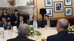 Ο πρόεδρος Αναστασιάδης με τον ειδικό απεσταλμένο του ΟΗΕ Άιντα στον Κραν Μοντάνα. Φωτογραφία ΚΥΠΕ.