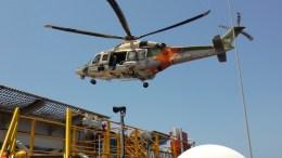 Πτήση ελικοπτέρου της Κυπριακής Δημοκρατίαςπρος την πλατφόρμα West Capella στο πλαίσιο υποστήριξης της γεώτρησηςΦωτογραφία via ΠΡΟΕΔΡΙΚΟ ΜΕΓΑΡΟ